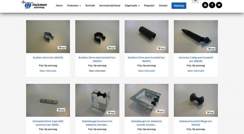Huisman Scherming opens webshop for screening products