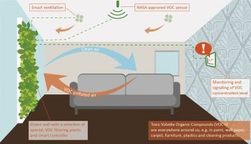 Consortium is working on a green wall for active air purification