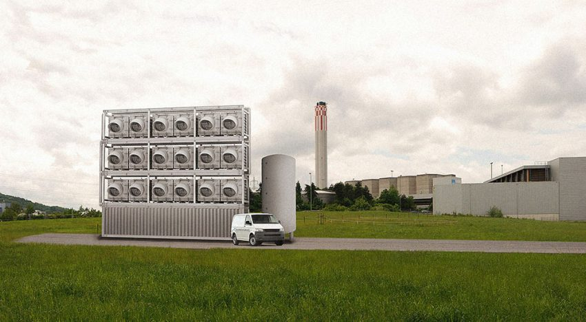 Inventive system extracts CO2 out of the air for greenhouse horticulture