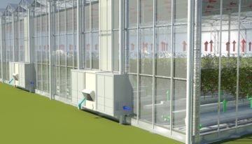 Glazing on the prototype of the 'Greenhouse of the Future' generates electricity