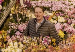 """Stefan Bakker, here at Ter Laak Orchids in Wateringen: """"Choose your sources wisely and keep the best quality irrigation water for the summer period."""""""